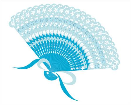 blue patterned fan Stock Vector - 7016969