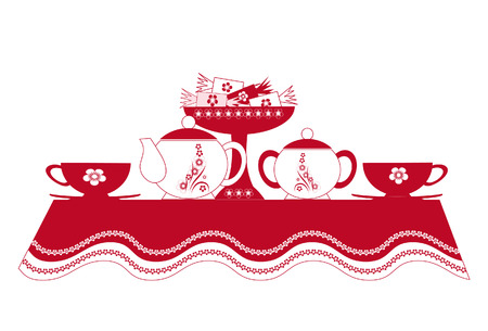 Table laid for tea