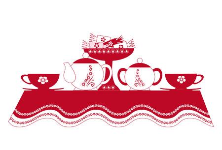 Tabel van de thee