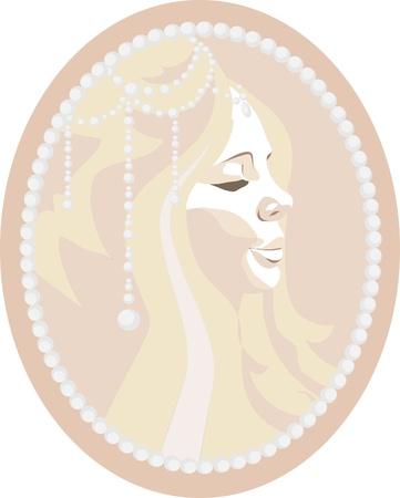Cameo depicting a beautiful girl