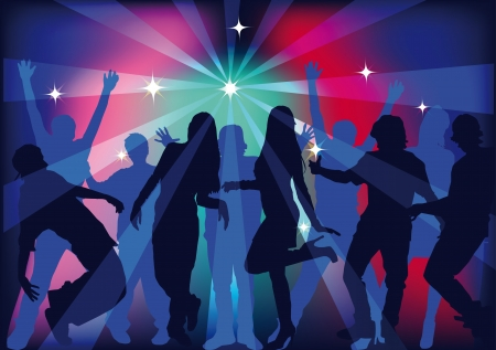 people dancing at a party Stock Vector - 14969245