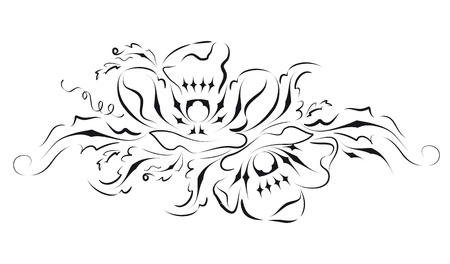 Stylized flowering poppies. Graphic design on a white background Stock Vector - 17281020