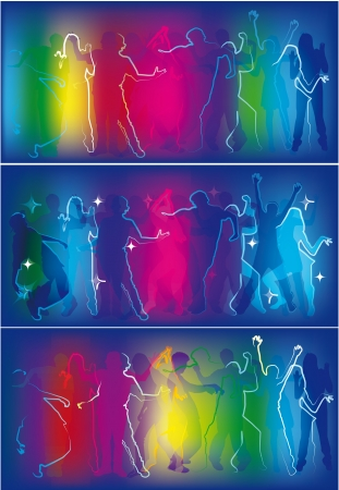 people dancing at a party Vector