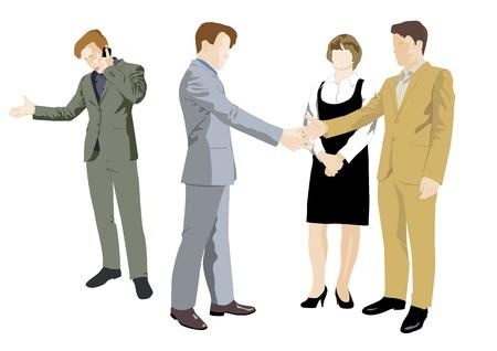 businessmen agree on deal Stock Vector - 18410196