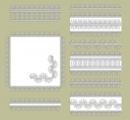 decorative items: Lace frames and decorative items and ornaments