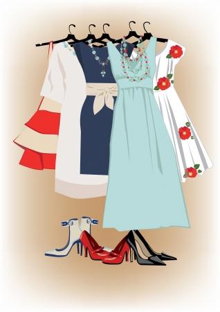 Women s dresses and shoes Zdjęcie Seryjne - 25105554
