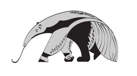 anteater: stylized image of a giant anteater