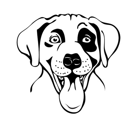 merry muzzle dogs, vector illustration