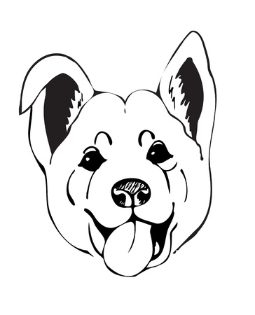 muzzle: merry muzzle dogs, vector illustration