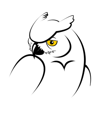 Owl. Stylized vector illustration