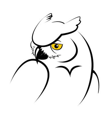 Gufo. illustrazione vettoriale stilizzata