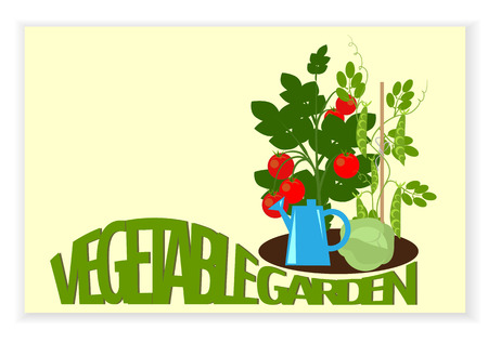 Banner ein Gemüsegarten Gemüse im Garten, und Text