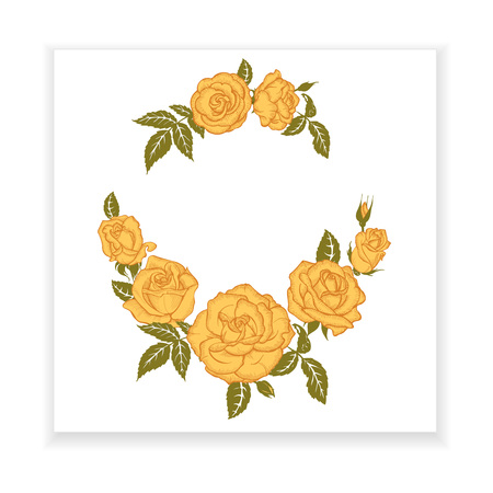 yellow rose: yellow rose, element for design, invitation template, greetings, postcards, advertising with roses