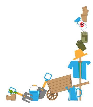 crop sprayer: tools for working in the garden, vector illustration