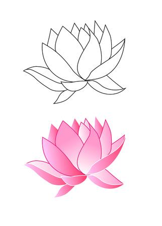 Pink lotus flowers coloring vector illustration royalty free pink lotus flowers coloring vector illustration stock vector 60146330 mightylinksfo