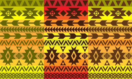 set of ethnic patterns, vector illustration Illustration