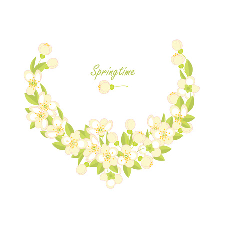 Spring vector background. Spring flowering branches 向量圖像