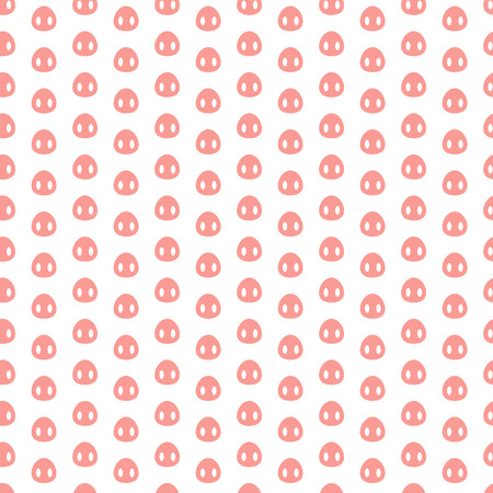 Seamless pattern with pig heels on white background, vector illustration