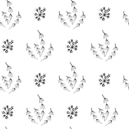 stylized grass on a white background, seamless vector illustration Иллюстрация