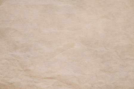 Crumpled powder recycled paper grunge texture.  Light colored vintage paper background for design, web page with copy spice.