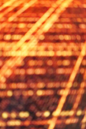 Orange light laser network texture. Abstract futuristic sci fi technology innovation concept background. Reklamní fotografie