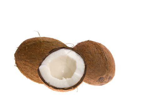 Coconuts on white background Stock Photo - 3693628