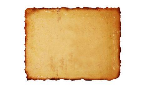 Vintage brûlé du papier