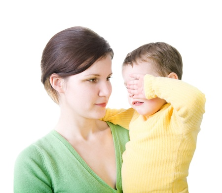 chafe: Woman with crying child