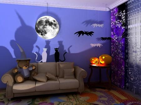 babyroom: Halloween babyroom (child-room)
