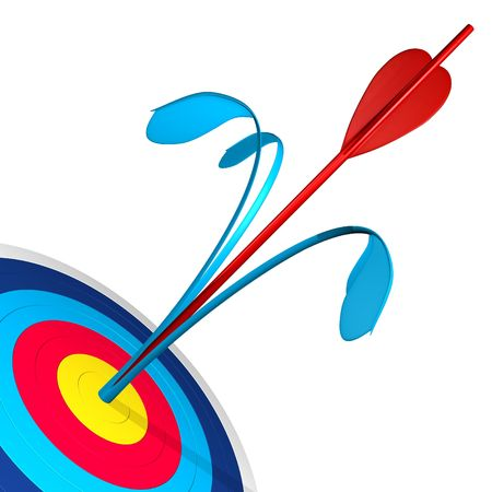 Two arrows in the target Stock Photo - 2945400