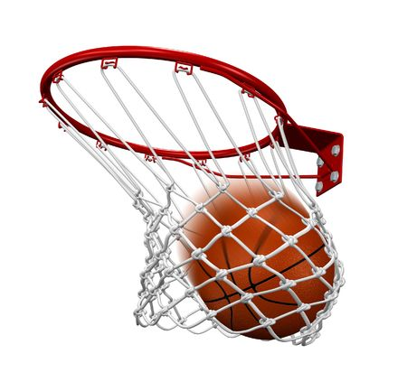 basketball team: Basket shot Stock Photo