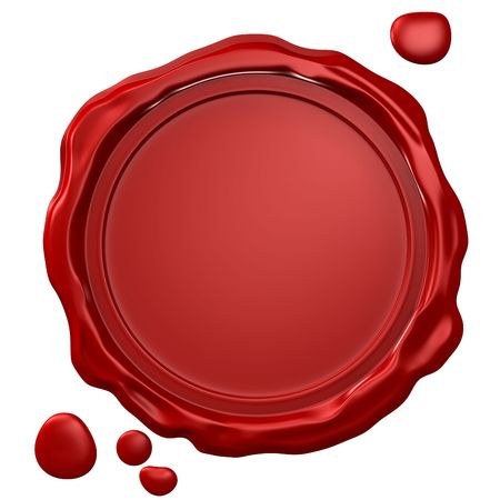 wax stamp: Empty wax seal Stock Photo