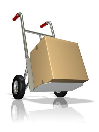 hand truck: Delivery
