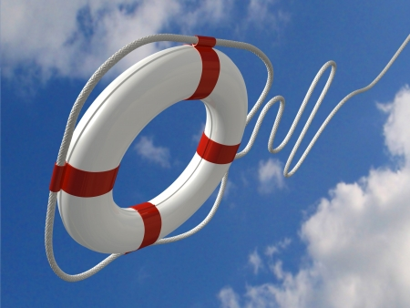 life ring: Flying life preserver