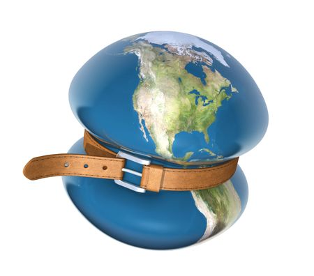 economic depression: Global crisis Stock Photo