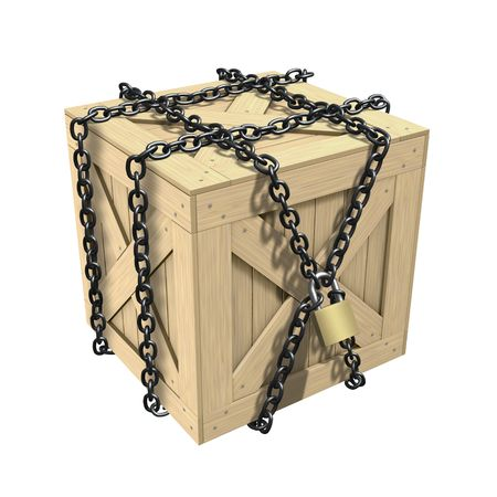 Locked Wooden Crate Stock Photo - 5814135