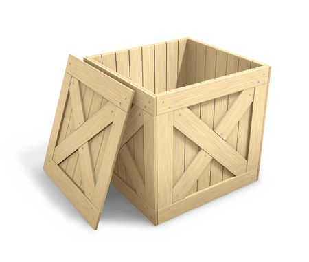 Open Wooden Crate Stock Photo - 5814159