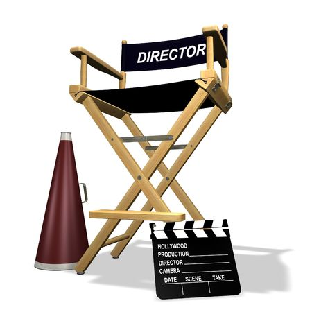 directors cut: Directors equipment Stock Photo