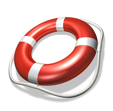 wreckage: Lifebuoy Stock Photo