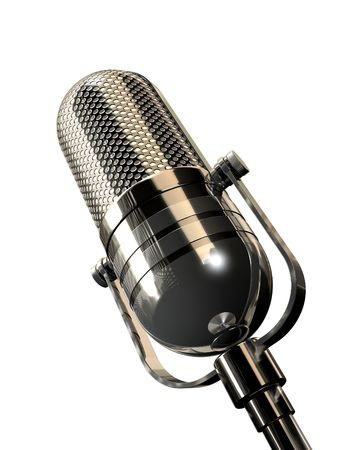Round Retro Microphone  Stock Photo