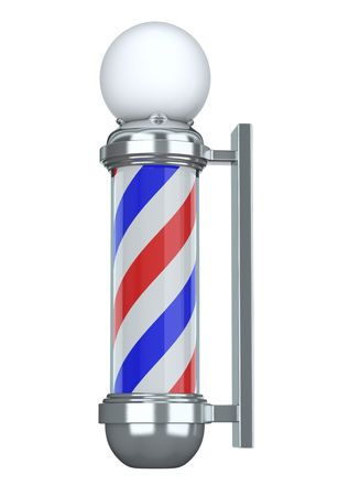 sign pole: Barbershop Pole Stock Photo