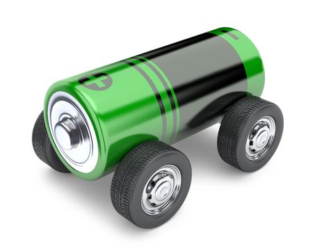 rechargeable: Electromobile Stock Photo