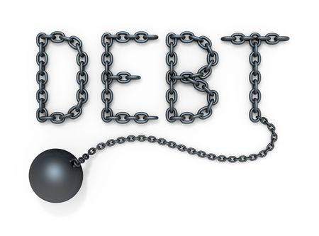 shackled: Debt Stock Photo