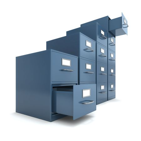 drawers: File drawers Stock Photo