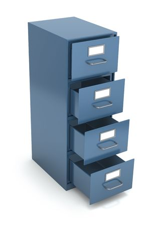 office theft: File drawer Stock Photo