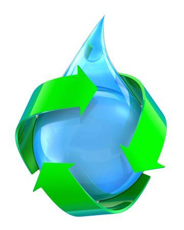 ciclo del agua: Agua reciclada