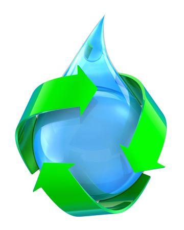 Recycled water Stock Photo - 6449737