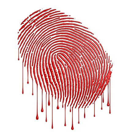 murder: Bloody fingerprint