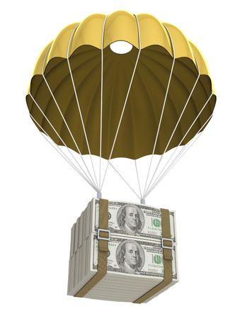 spadochron: Golden Spadochronowy Zdjęcie Seryjne