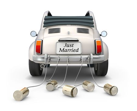 Just married photo